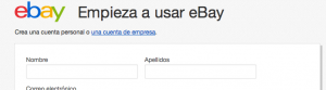 empieza usar ebay