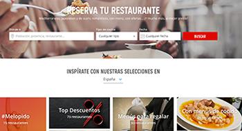 paginas web descuentos restaurantes